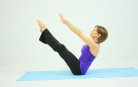 The boat yoga pose - featured