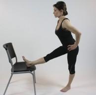 Standing Hamstring Chair Stretch