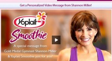 Shannon Miller Yoplait Smoothie